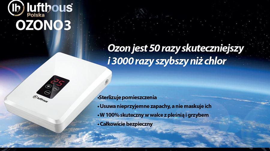 Działanie ozonu ozonator Lufthous OZONO3